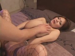 Japanese curvy gal fuck and facial