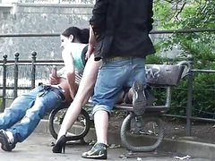 Public trio sex on the street Outstanding