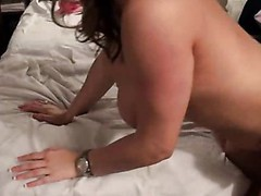 Pleasant slut with rainbow socks acquires fuck by mature white dude.