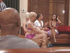 The couples gathered jointly in a room and the men sit quietly as their wife talked about sex and how they should fuck. A fat Chinese prick is being interviewed and his opinion is that this stuff is just like dating. Well now, let's leave them to talk as we have a fun how these naughty blonde cunts have some fun.