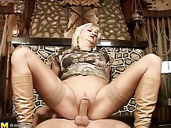 They say older honeys are beautiful lovers, and this is one mature woman! That honey likes getting boned, riding her stud's meat just as good as any young wench could do if not better. That honey gets her pussy pounded before laying on her back and her chap getting betwixt her, drilling her well-aged cunt.