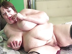 Marjan is on the bed, making the cameraman hawt the way this babe plays with her huge melons. It's not too long in advance of this babe oils her giant jugs and acquires out a dildo, sliding it between her tits. That babe sucks on it seductively, making the cameraman moan with lust. That babe proceeds to tease him this way.