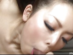 U know a lot of Japanese honeys are very sexual. Yuki is no exception, loving having two jocks to play with instead of just one. They receive her fur pie soaked and this babe responds by taking turns engulfing and licking 'em both. Then this babe keeps one as well as the other happy by having one fuck her and engulfing the other.