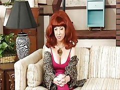 Watch this parody as this hawt blonde that is playing Kelly's role is all bare in her room fingering her taut bawdy cleft while that babe is talking to her father. See how much that babe enjoys playing with that sex tool unfathomable inside her taut soaked pussy. Do you think that babe could use a real cock inside of her hairless cunt?