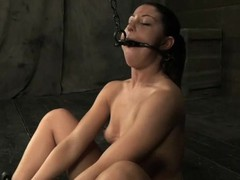 Girl acquires her neck restrained and knockers clamped