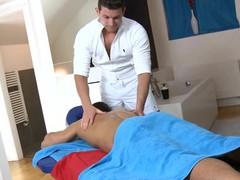 Cute twink gets a lusty massage from gracious gay guy