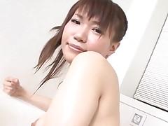 Pal licks, fingers and bonks bushy vagina of girlie from Asia