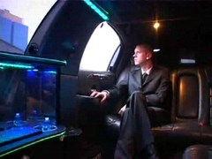 Hot gay collision in driving limo
