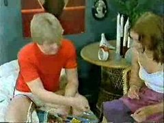 Brother&amp,#039,s ally and girlfriend playing to the doctor when mama  comes-Retro