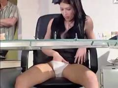 The 1st customer this day with acquire a sleazy surprise from the receptionist