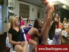 CFNM stripper raunch fest with lustful ladies