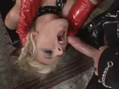 Perverted latex threesome with fantastic whores
