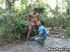 Homo latinos engulfing dick and banging arse