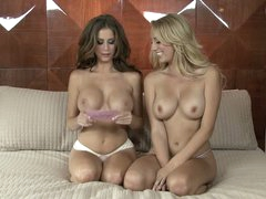 Lesbo interview with big meloned Brett Rossi